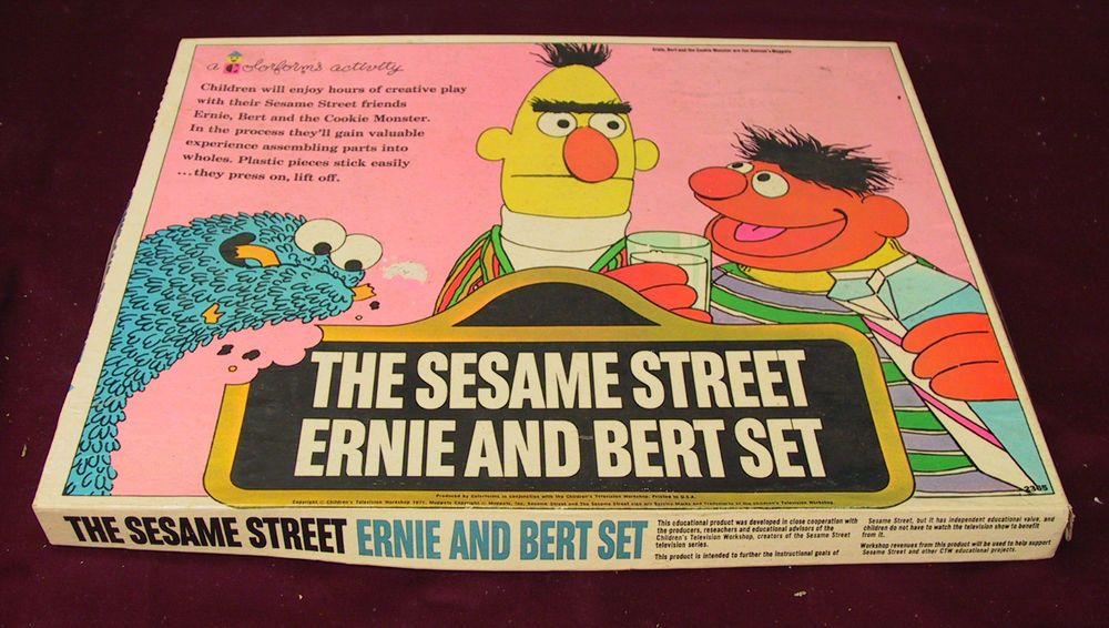 Vintage 1970 The Sesame Street Ernie And Bert Colorforms