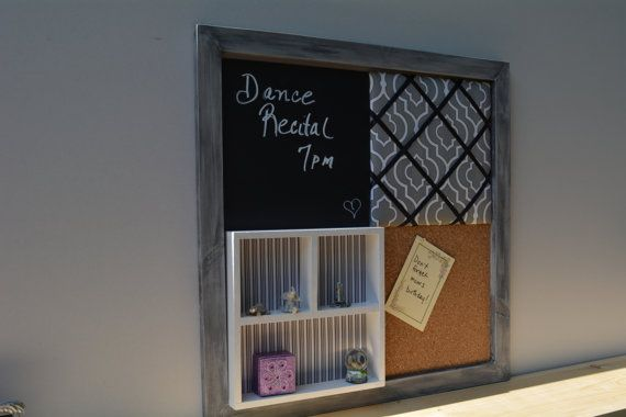 Four square mix and match memo board with shadow box