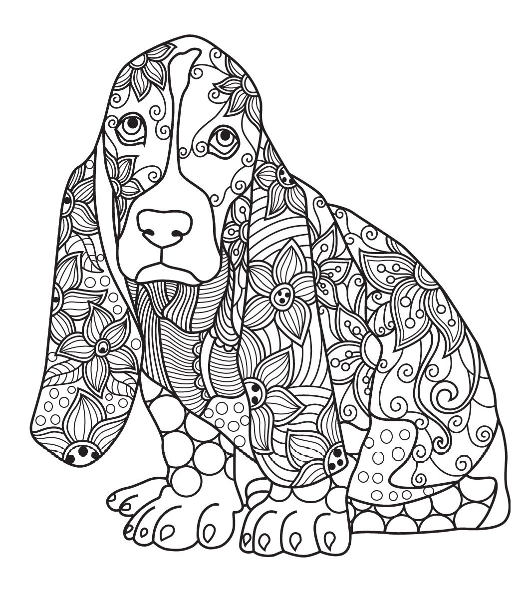 Dog Colorish Coloring Book For Adults Mandala Relax By