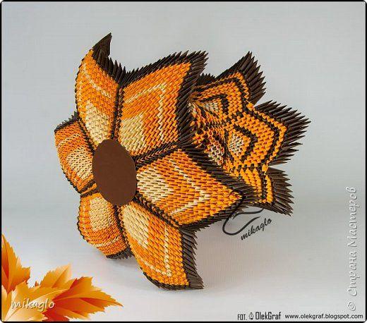 Vase 3d Origami Diagram: 3d Origami Vase Mikaglo фото 2