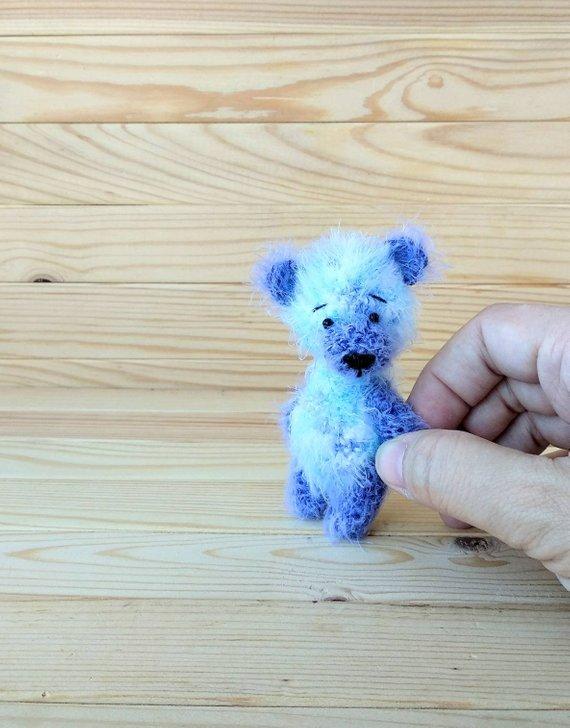 miniature teddy bear, Blythe friend, artist teddy bears, miniature teddy bear, Blythe friend toy crochet teddy bear ooak teddy bear, bear #crochetteddybears