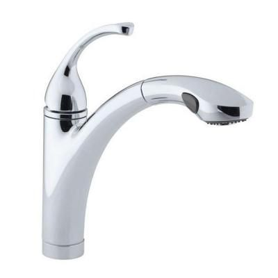 Kohler Forte Single Handle Pull Out Sprayer Kitchen Faucet In
