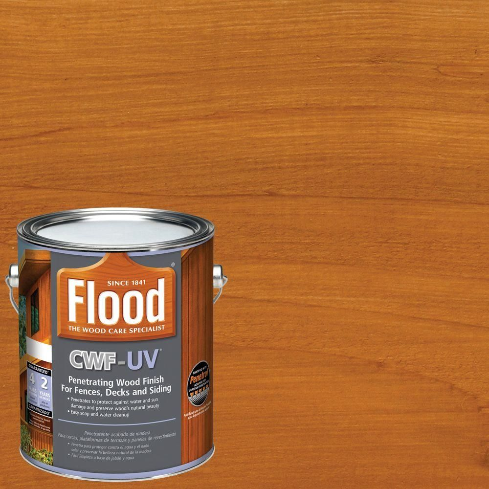 Flood 1 Gal. Cedar Tone CWF-UV Exterior Wood Finish-FLD520