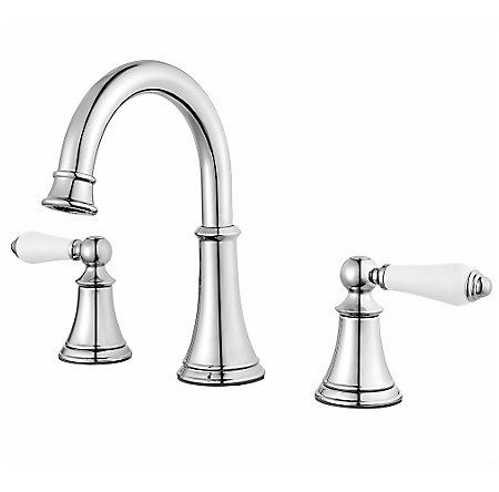 Polished Chrome Courant Widespread Bath Faucet LFCOPC - Silver bathroom faucets