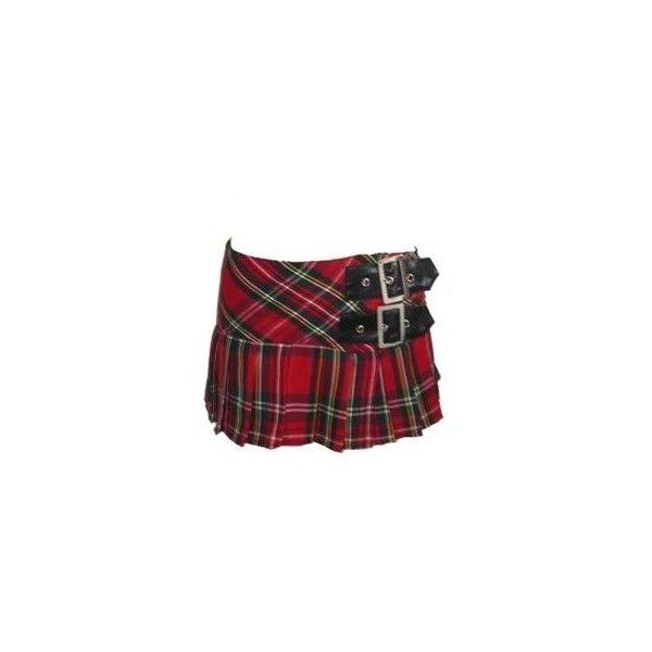 Hell Bunny Tartan Pleated Micro Mini Skirt Red