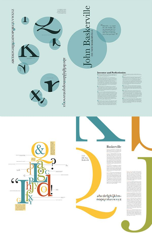 Font Study ITC New Baskerville on Behance Typography Pinterest