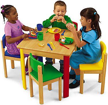 Classroom Furniture Flexible Seating Rugs Tables Lakeshore Dramatic Play Preschool Pretend Play Table And Chairs Preschool table and chairs set