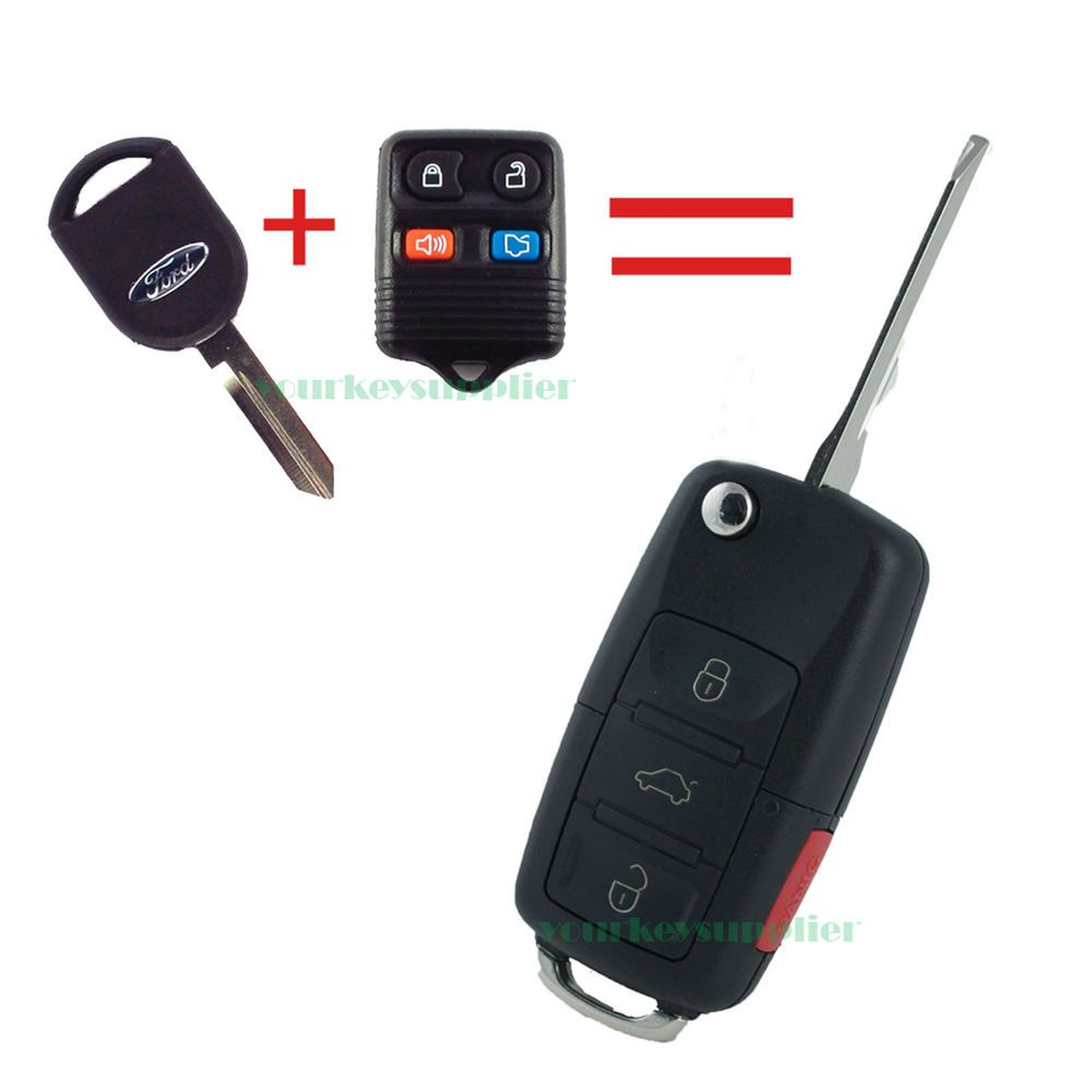 New Ford Lincoln Mercury Flip Key Fob Keyless Entry Remote 4