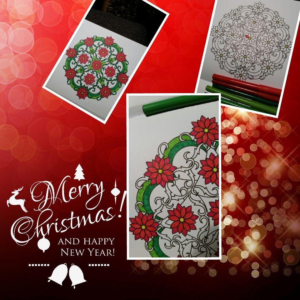#kerstgevoel #mandala #kleurenvoorvolwassenen