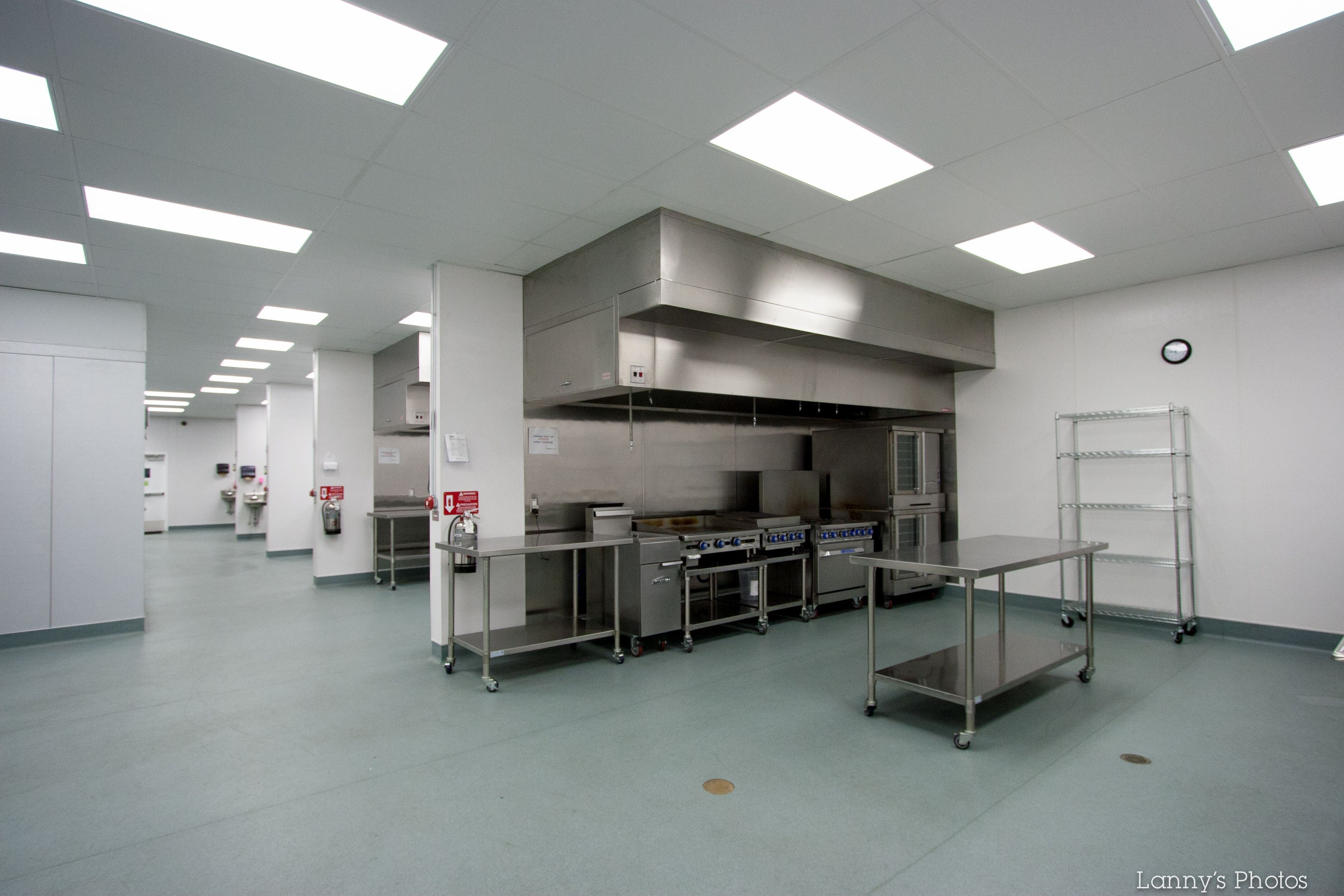 Commercial Kitchen With Four Separate Kitchen Spaces