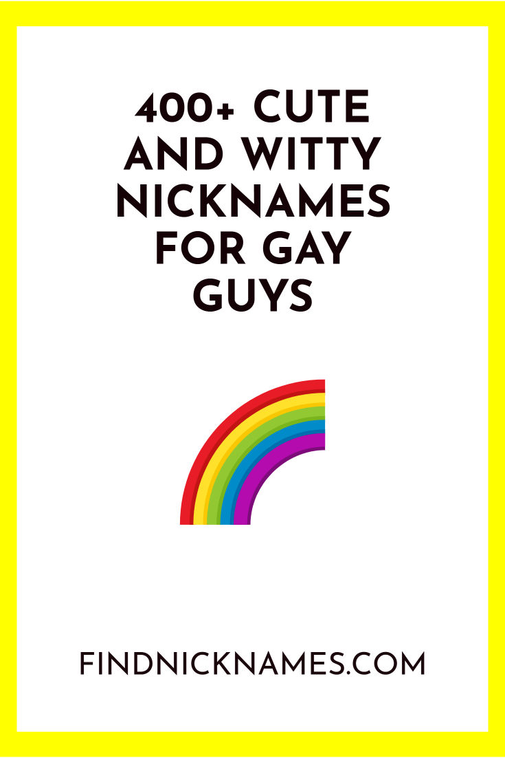 Pin on Nicknames For Guys
