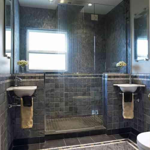 Salle de bain ardoise : naturelle et chic   Pinterest   Carrelage ...
