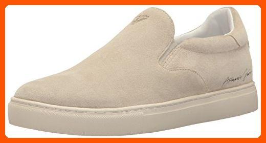 Armani Jeans Men's Eagle Slip Fashion Sneaker, Biege, 44 EU/11 M US - Mens world (*Amazon Partner-Link)