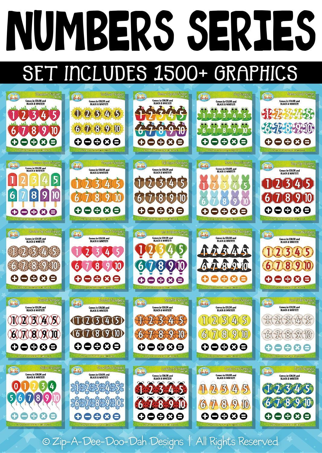 Ultimate Numbers Counting Series Clipart Zip A Dee Doo