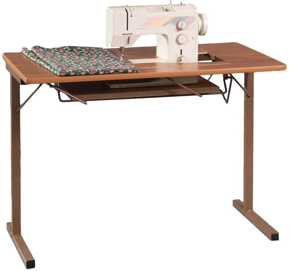 Sewing Machine Cabinets - Fashion Sewing Cabinets 299 Portable Sewing Table  Rustic Maple, $169.99 (