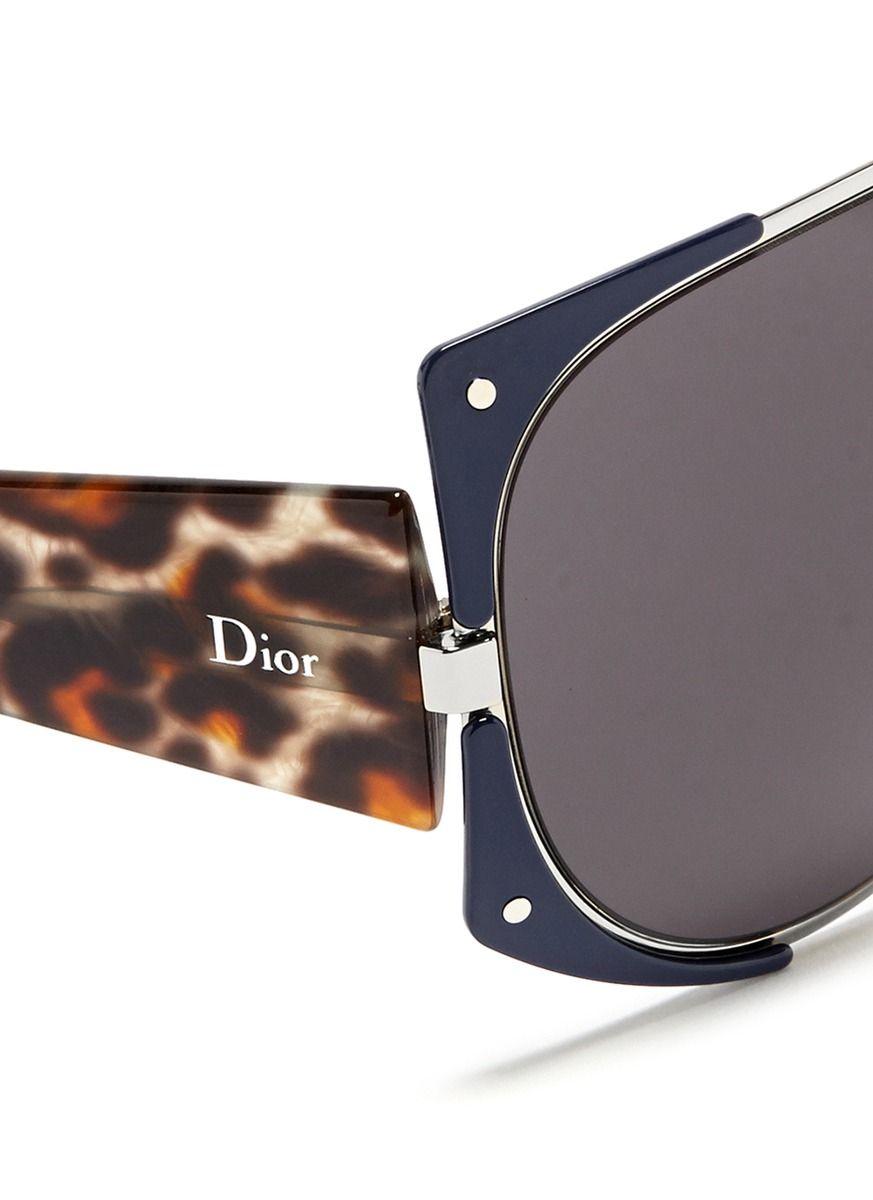 06f263c2cd DIOR  Enigmatic  panther print acetate temple metal sunglasses ...