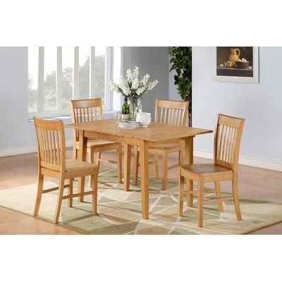 Three Posts Phoenixville 7 Piece Dining Set Solid Oak Dining Table Kitchen Table Settings Rectangle Dining Table