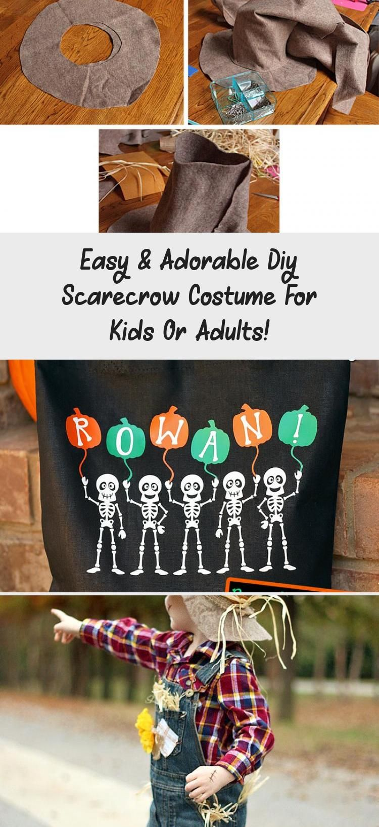 Easy & Adorable Diy Scarecrow Costume For Kids Or Adults! #scarecrowcostumediy