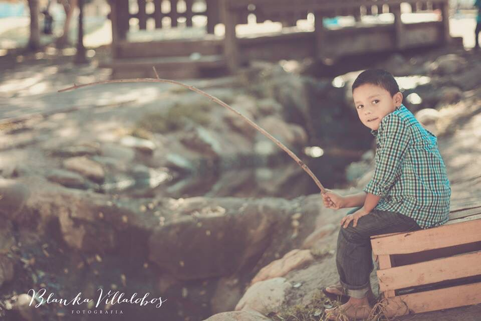 Fishing at the park..