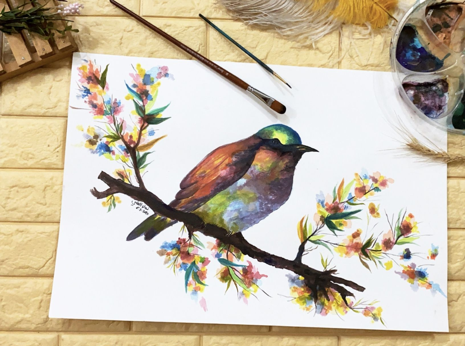 سكيج رسم بالالوان المائية التشكيلية نداء العلي Art Painting