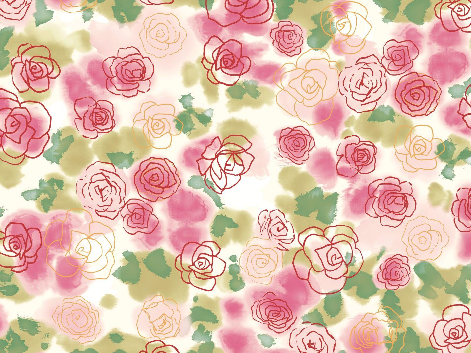 Vintage Flower Background Backgrounds Vintage Floral Pattern