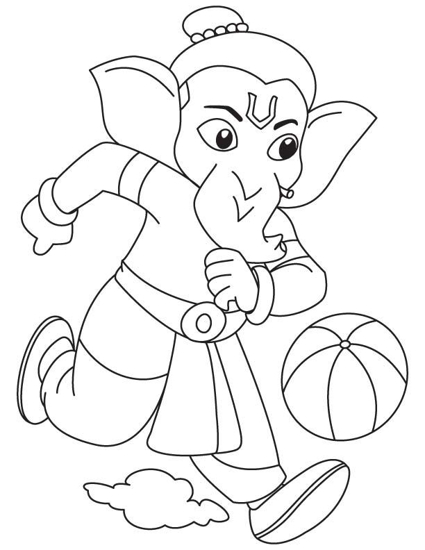 Lord Ganesha Coloring Pages Ganesha Art Ganesha Painting