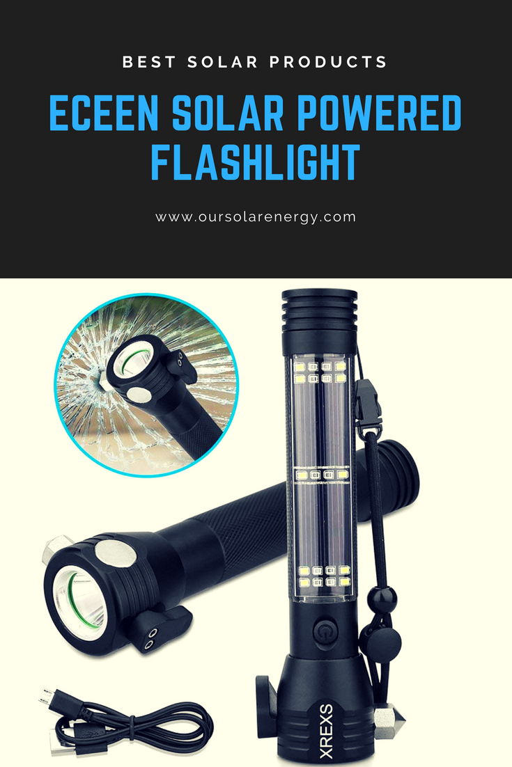 This solar powered flashlight can be very useful in a lot