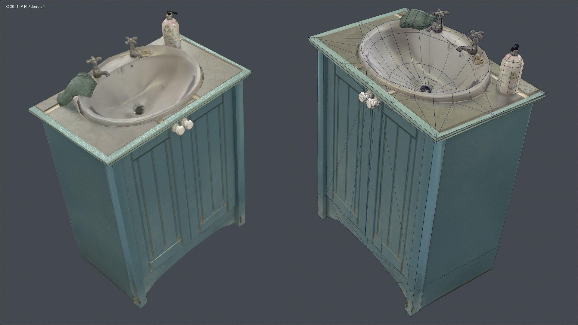 ArtStation - Sink low poly, Adam Vickerstaff