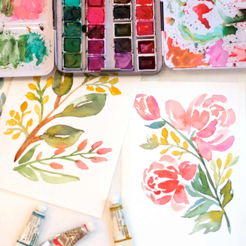 watercolor florals - Natalie Malan
