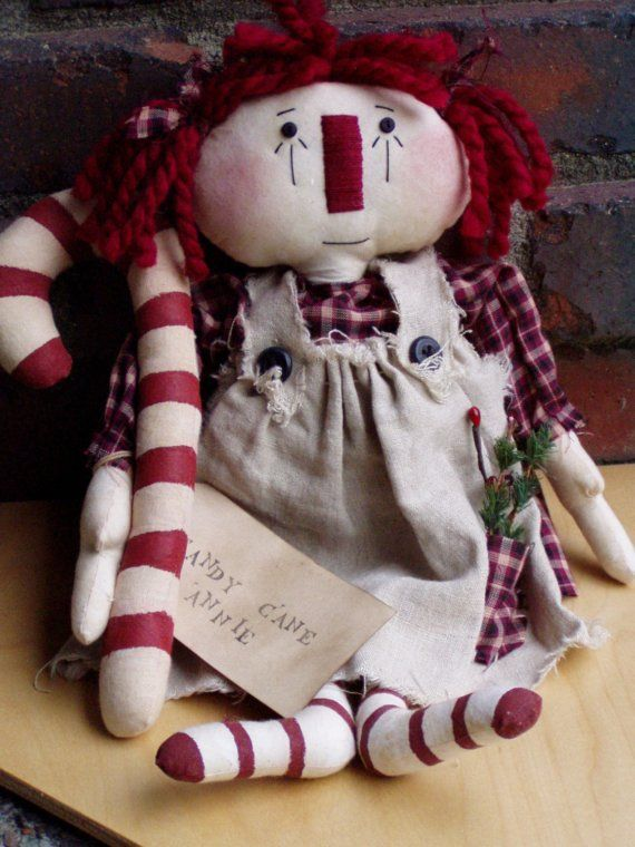 Grocery Bag Holder Bag Bag Annies 2 Dolls Primitive Raggedy Cloth Doll Pattern