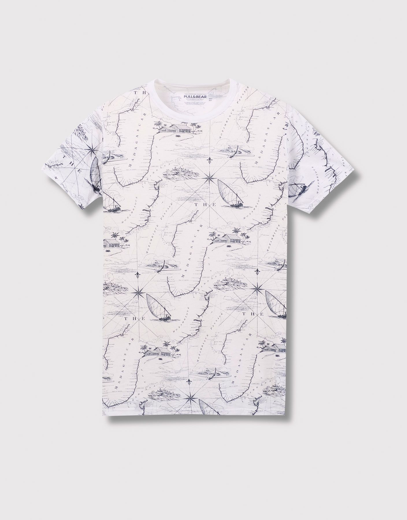 ade77da7 ALL-OVER PRINT T-SHIRT - T-SHIRTS AND POLO SHIRTS - MAN - PULL&BEAR Albania
