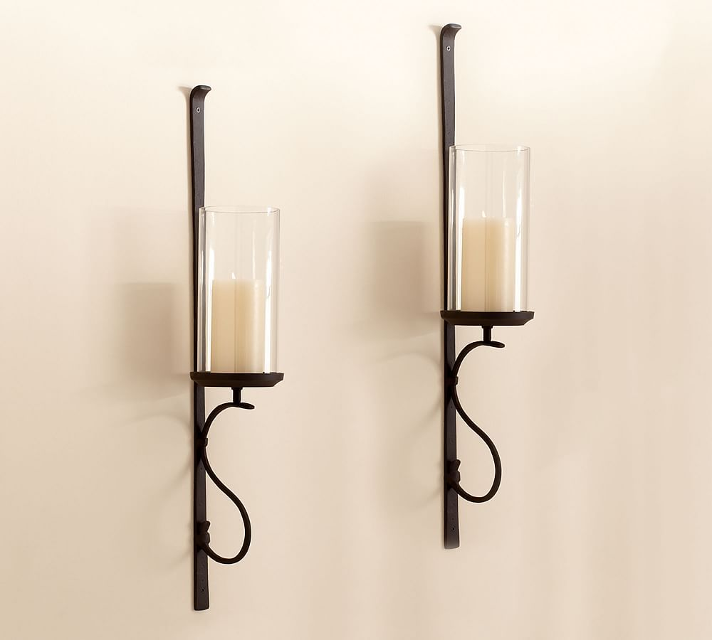 Artisanal Wall Mount Hurricane Set Of 2 At Pottery Barn Decor Pillows Candleholders Wall Mounted Candle Holders Wall Candle Holders Wall Candles