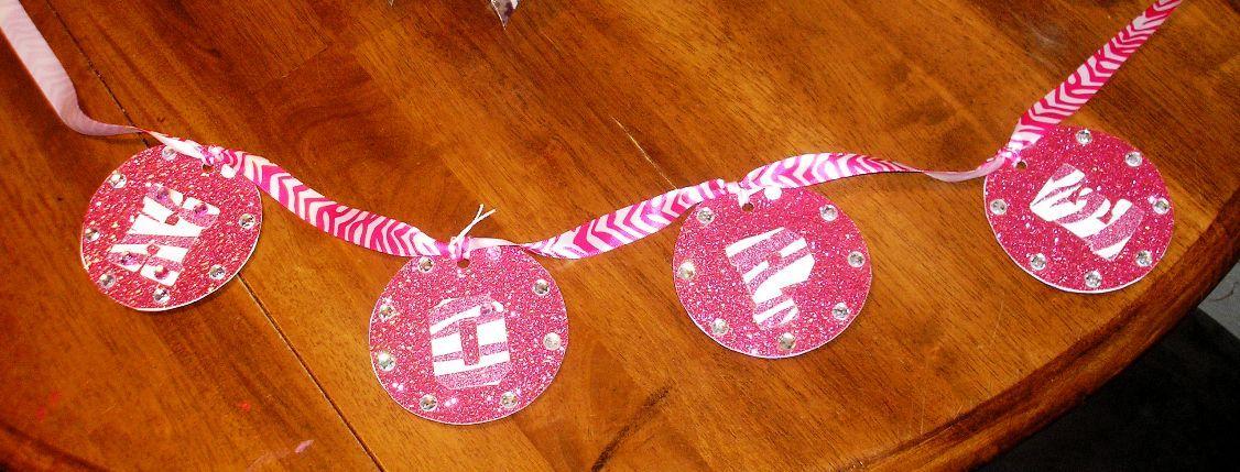 HOPE Pink & White Zebra Banner :)