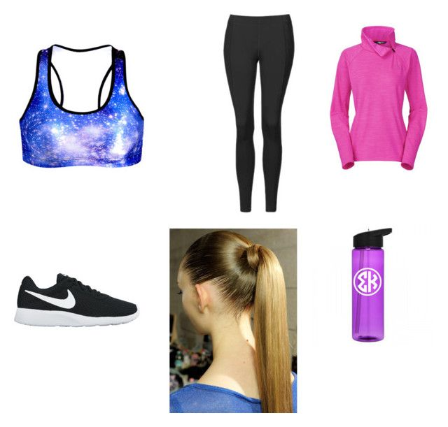 """""""Athletic"""" by hufflepuff394 ❤ liked on Polyvore featuring Topshop, NIKE and The North Face"""