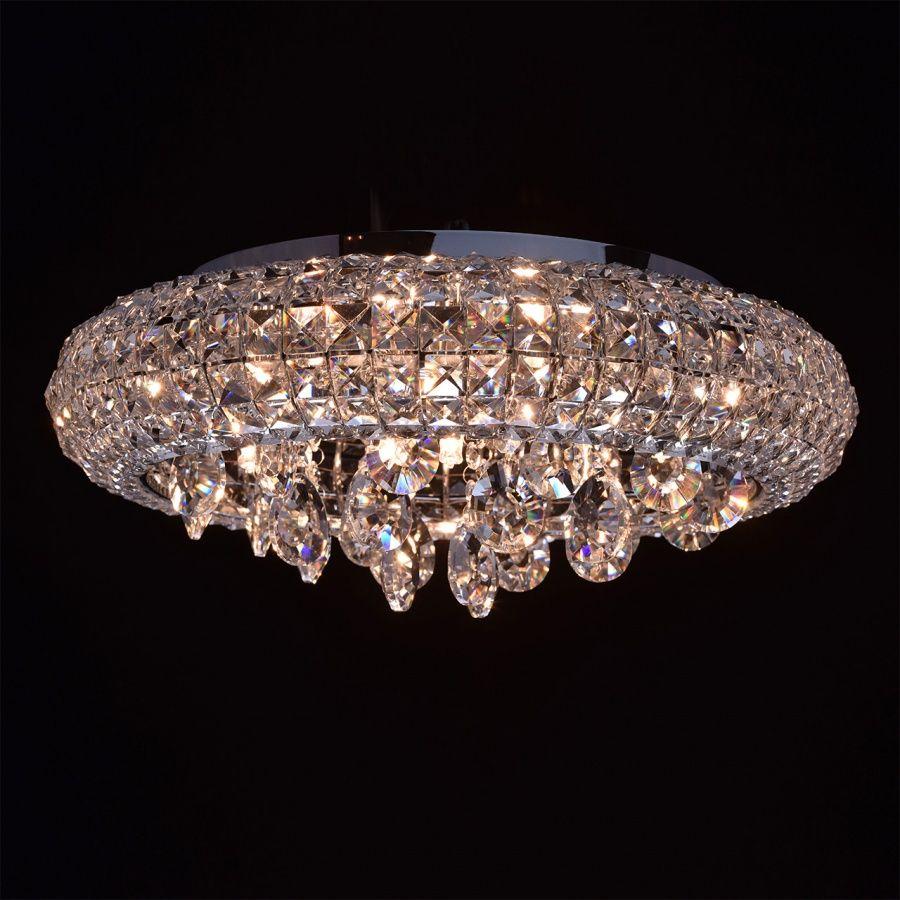 Moderne 7 flammige Kristall Deckenleuchte | Kristall
