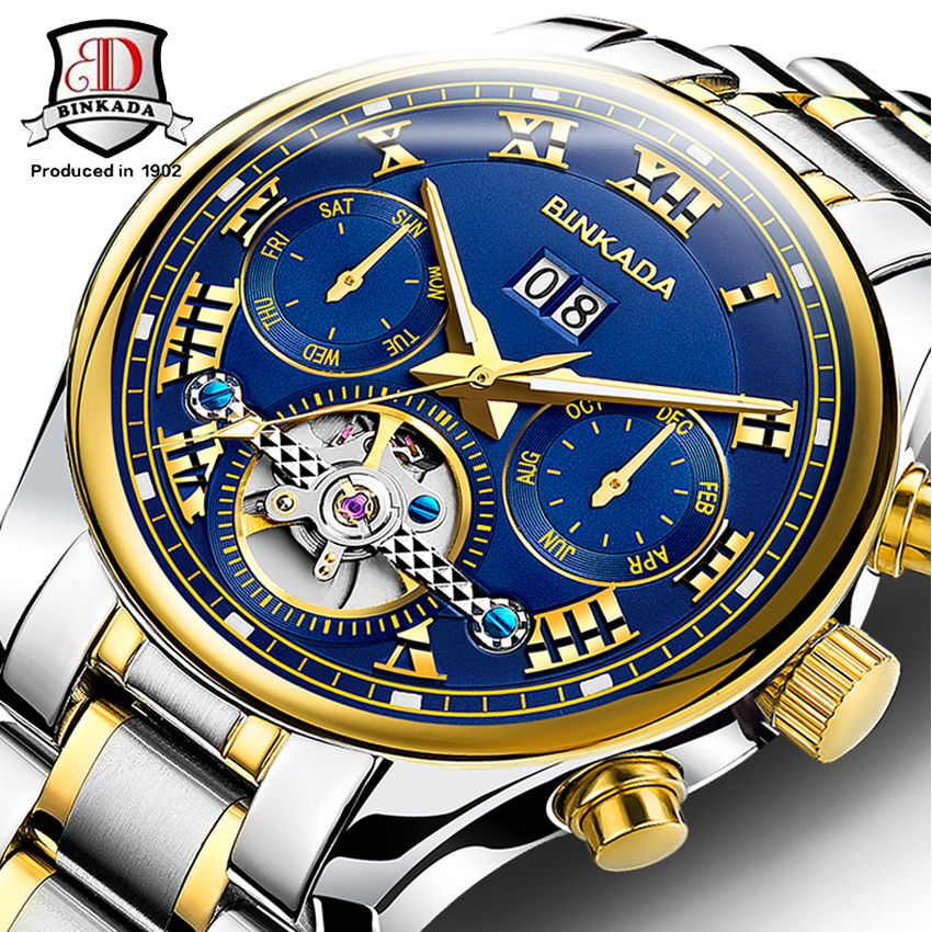 BINKADA 2017 High Quality Men Watches Top Brand Luxury Skeleton Mechanical  Watch Clock Men Gold Watches Men Wristwatch Montre  Affiliate 552cfe33e6c7