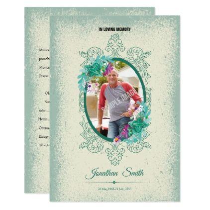 Memorial Funeral Program Card - invitations personalize custom ...