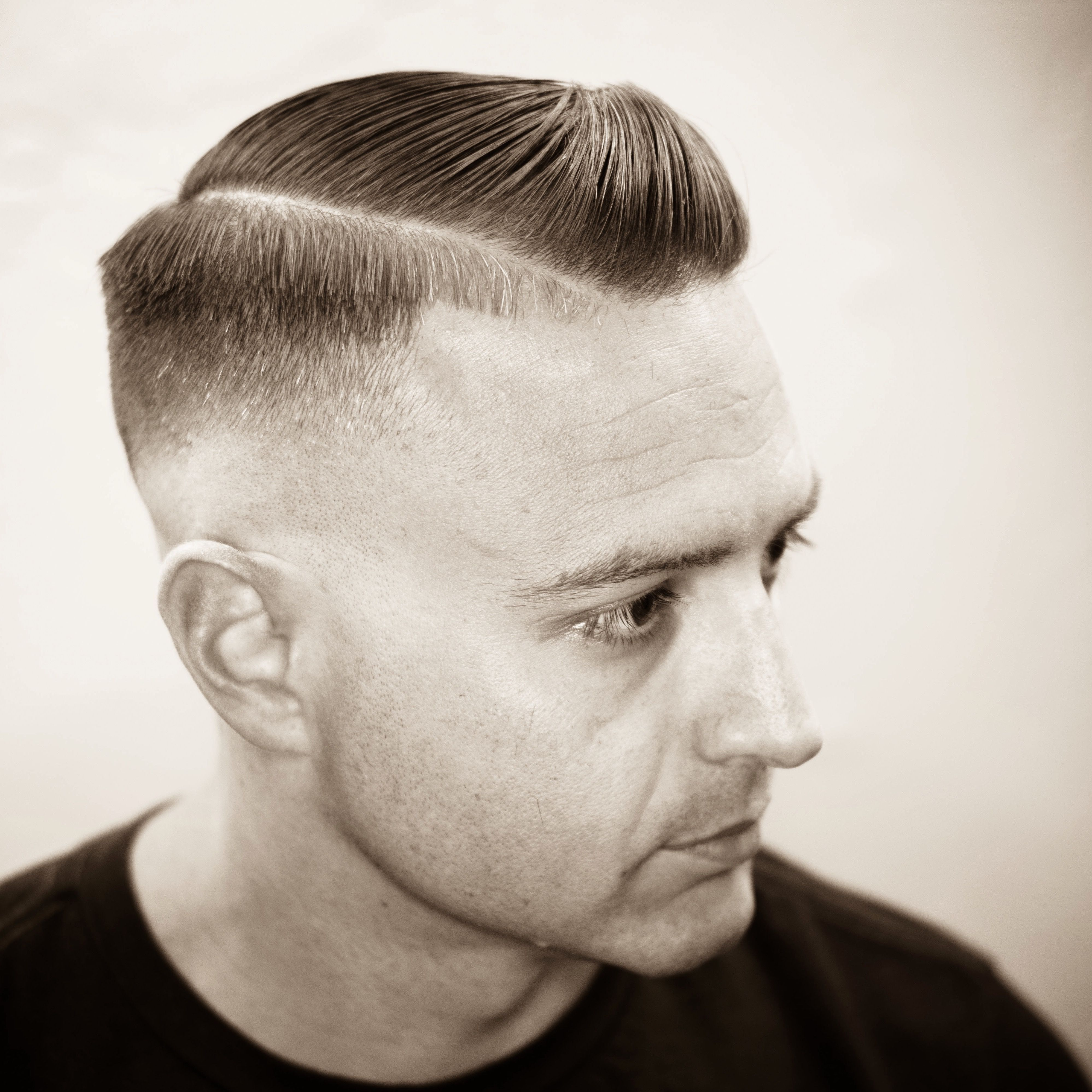 Razor Fade Executive Contour With Hard Part My In 2020 Old School Hairstyles Hairstyles For School Haircuts For Men