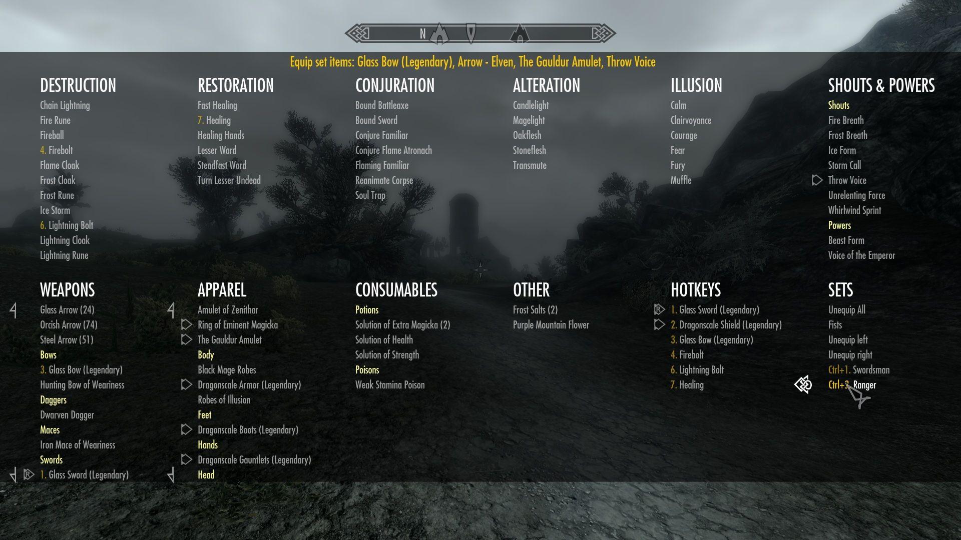 Categorized Favorites Menu Config - Mods Supported | Skyrim Mods