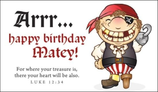 Send This FREE Pirate Birthday ECard To A Friend Or Family Member Free