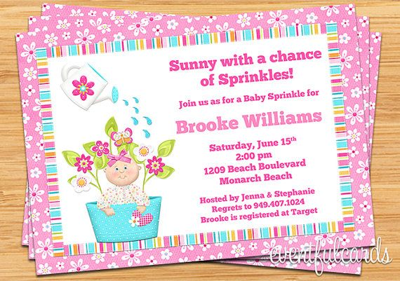baby sprinkle shower invitation for girl also by eventfulcards