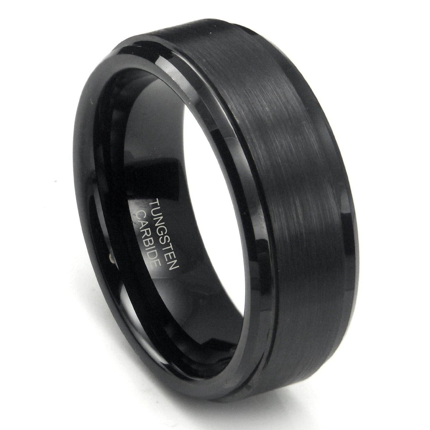 male engagement rings black 7 - Black Wedding Rings For Men