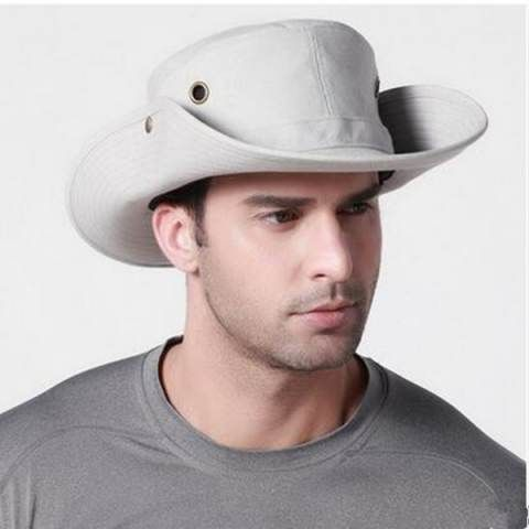 73046acc775 UV protection fishing hat with string for men plain summer sun bucket hats