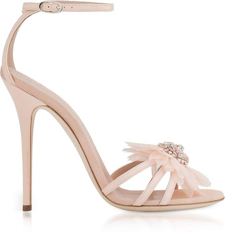 Giuseppe Zanotti Designer Shoes, Annemarie Patent Leather High Heel Sandals w/Flower