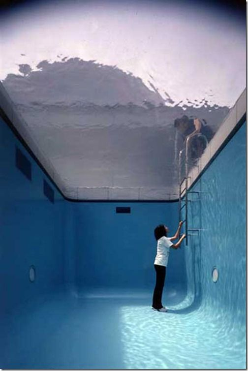 The Swimming Pool Illusion Installation At 21st Century Museum Of Art Kanzawa Japan By