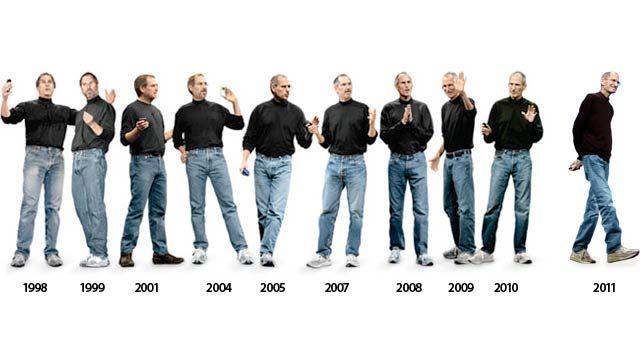 Resultado de imagem para steve jobs same clothes years