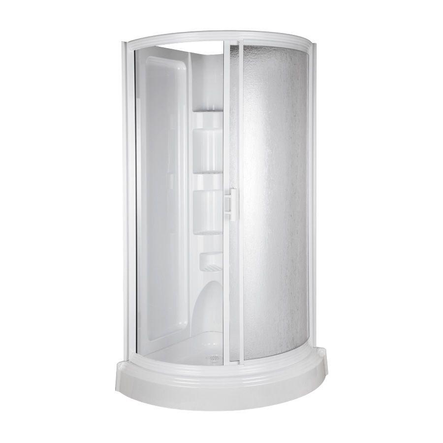 Shop Aqua Glass 78 In H X 37 3 4 In W X 37 3 4 In L High Gloss