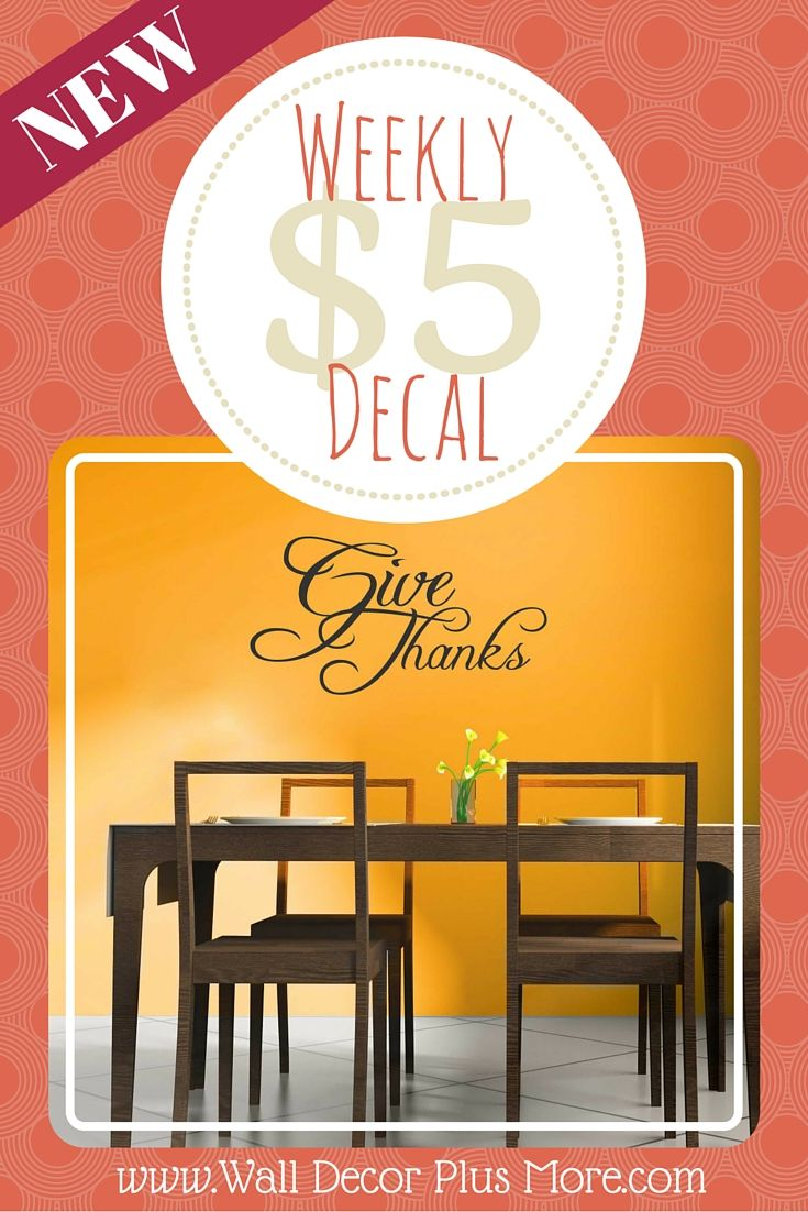 Give Thanks Kitchen Wall Sticker Decals Quote | Wall sticker ...