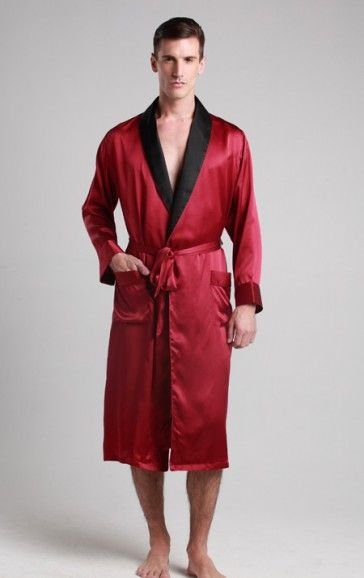 7ee8abcc90 Red color  Silk  Robe for  men and women in UK