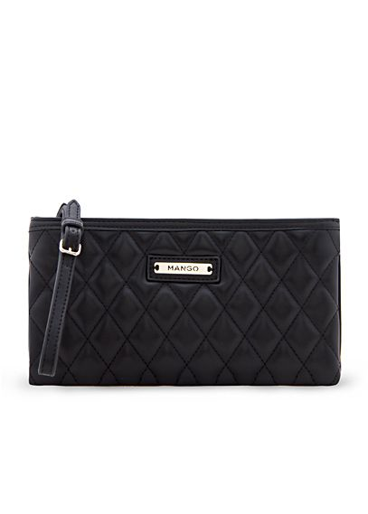 43d724a22e3 Quilted cosmetic bag - Woman | Mango Wish List | Cosmetic bag, Bags ...
